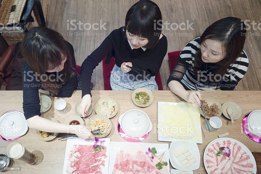 Enjoy shabushabu stock photo