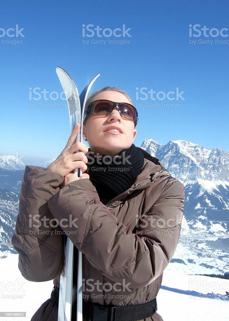 Enjoy skiing royalty-free stock photo