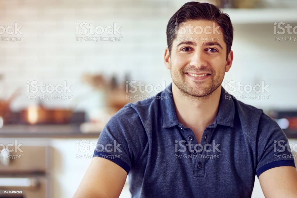 I enjoy spending my time at home stock photo