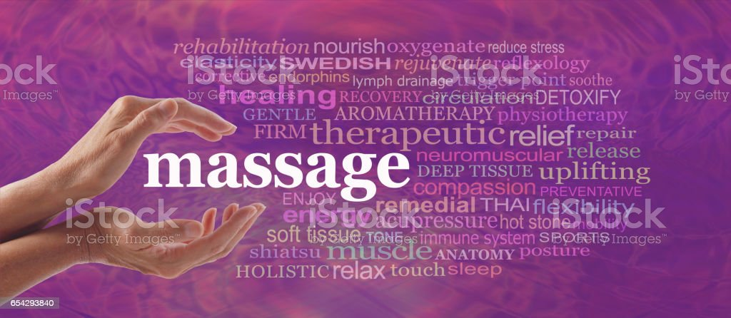 Enjoy the benefits of massage stock photo