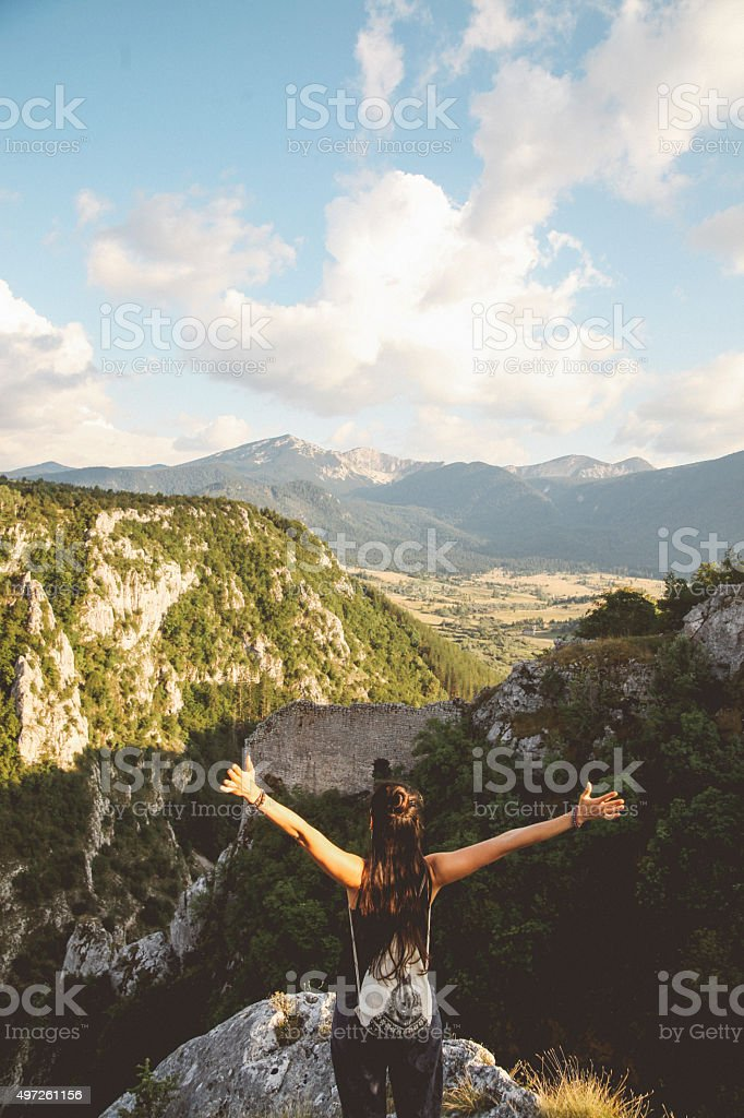 Enjoy the great outdoors stock photo