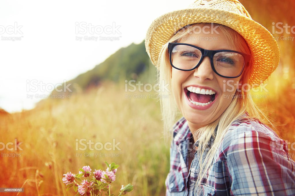 Enjoy the little things in life stock photo