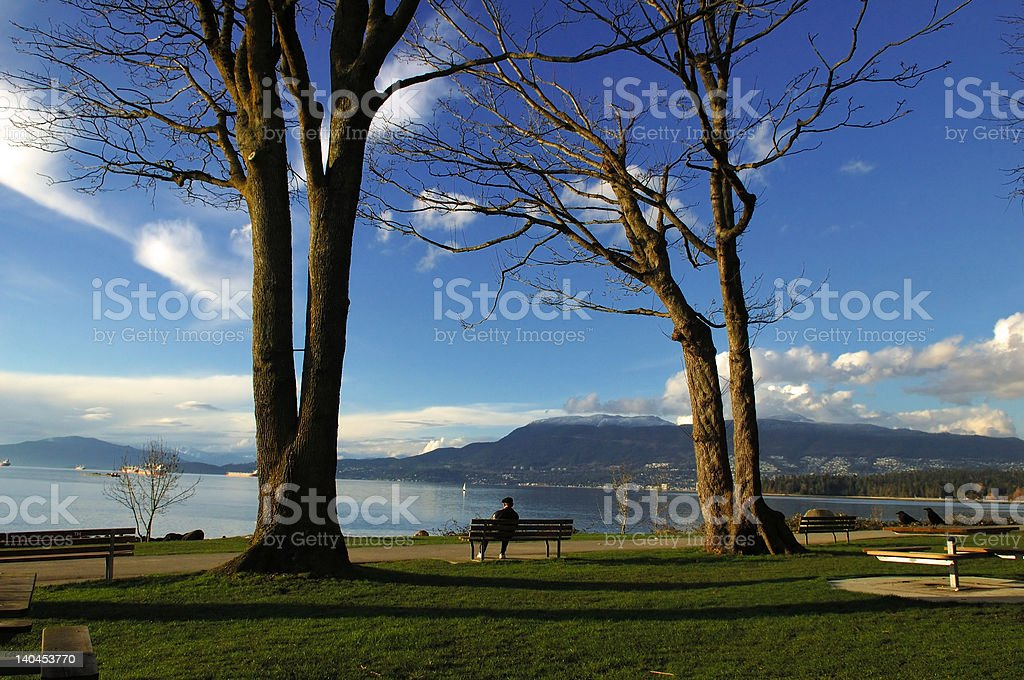 Enjoy the loneliness royalty-free stock photo