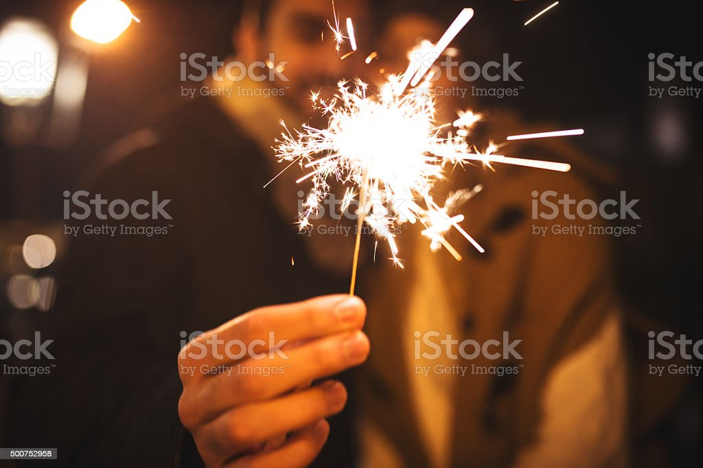 Enjoy the new year's eve party stock photo