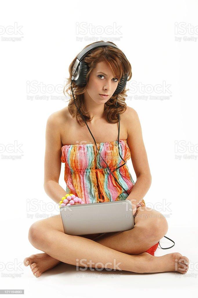 Enjoy the online music royalty-free stock photo