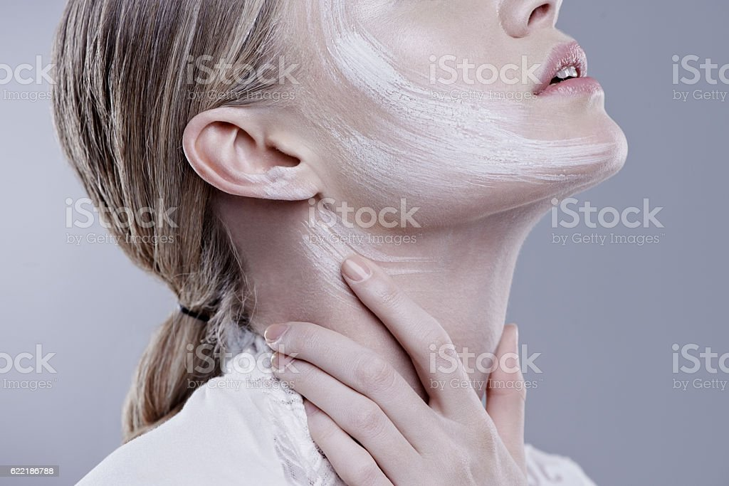 Enjoy the silky smooth feel of your skin stock photo