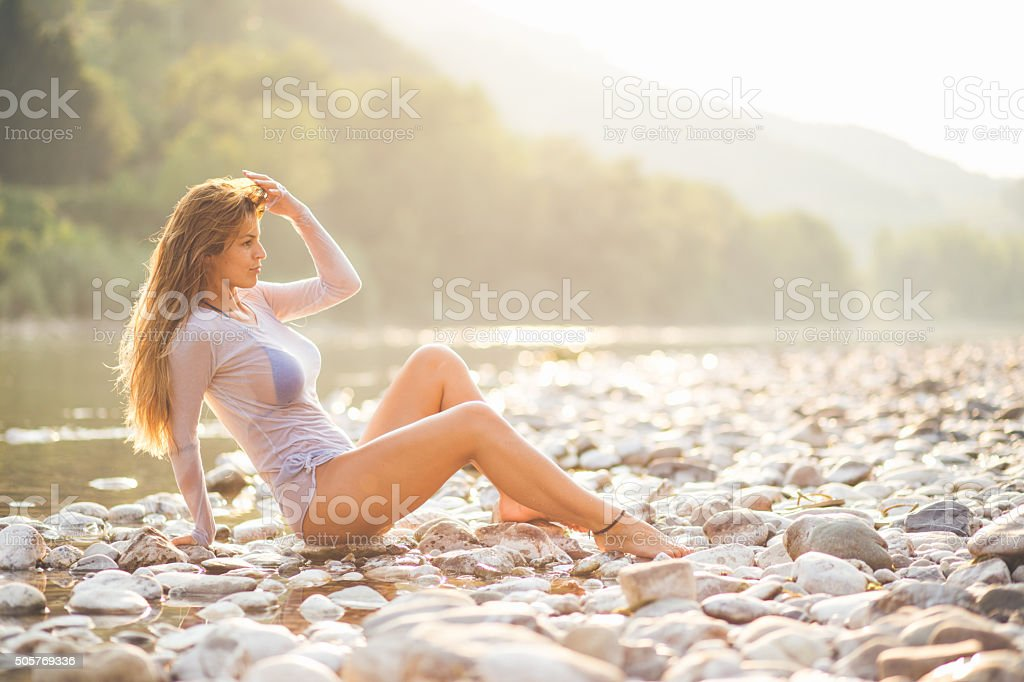 Enjoy the sun stock photo