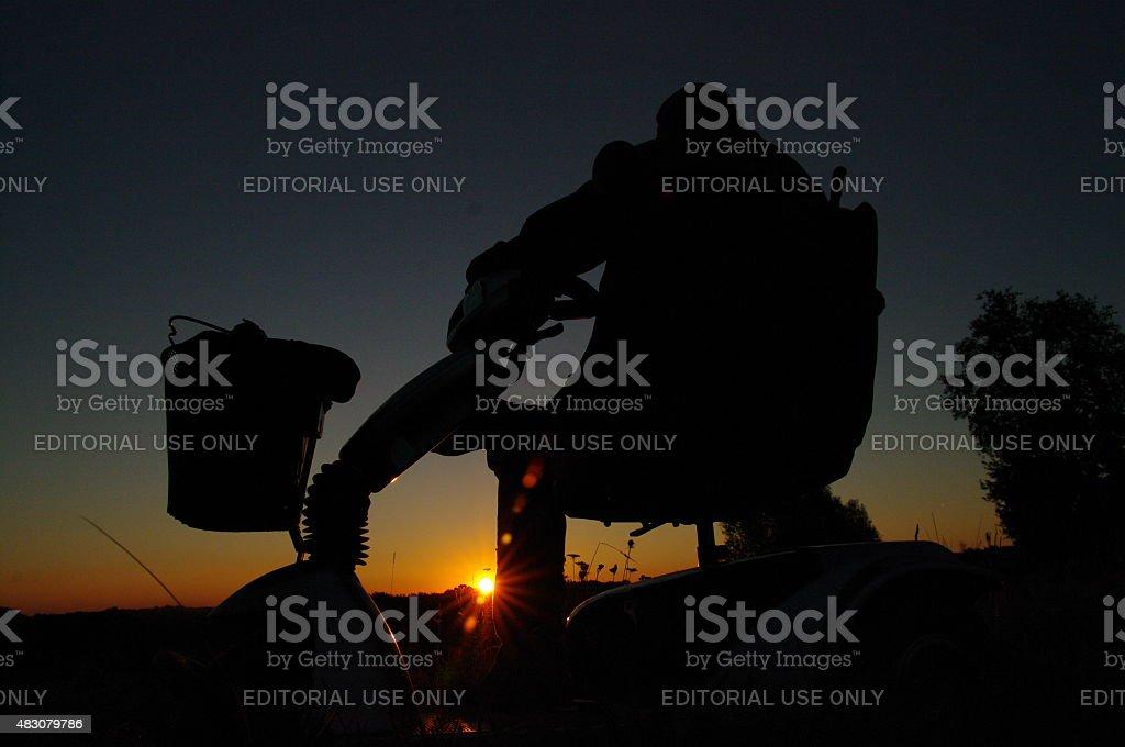 Enjoy the sunrise stock photo