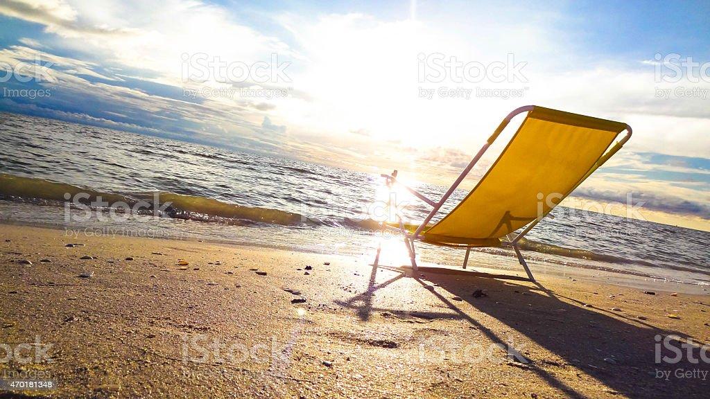 Enjoy the sunset at the beach of Treasure Island, Florida stock photo