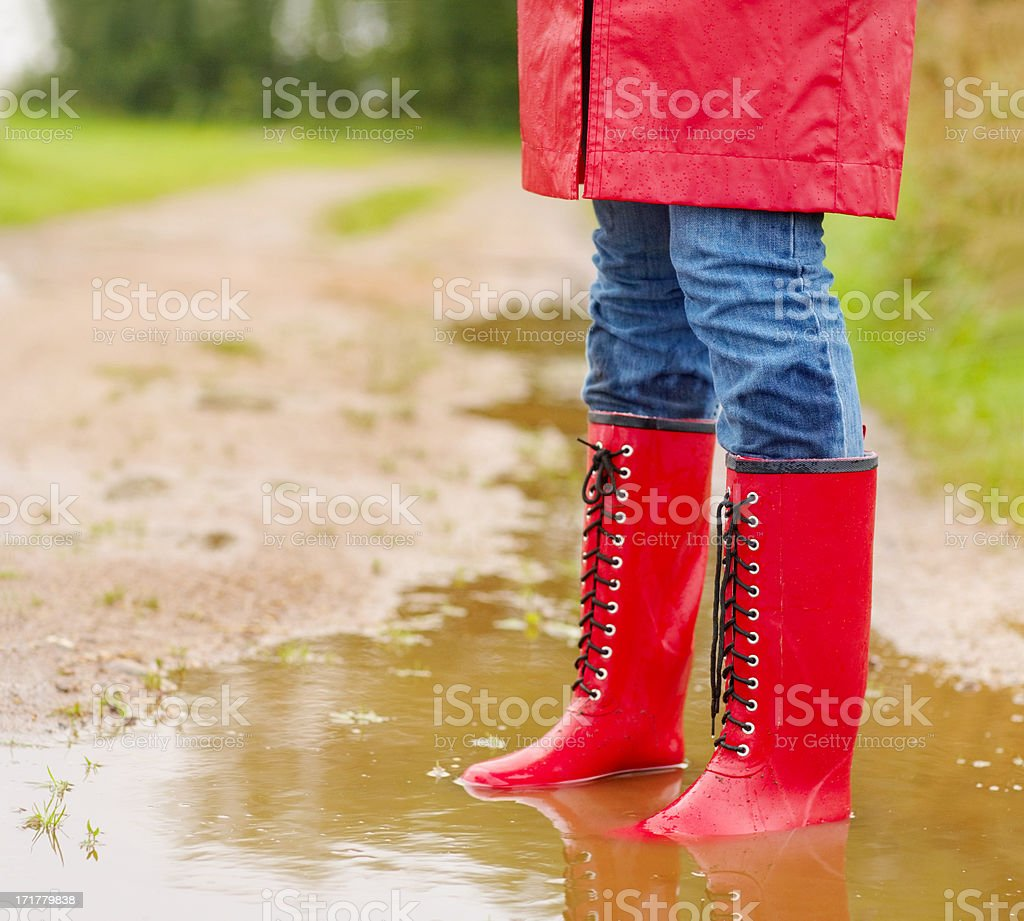 Enjoy the weather - whatever the weather! royalty-free stock photo