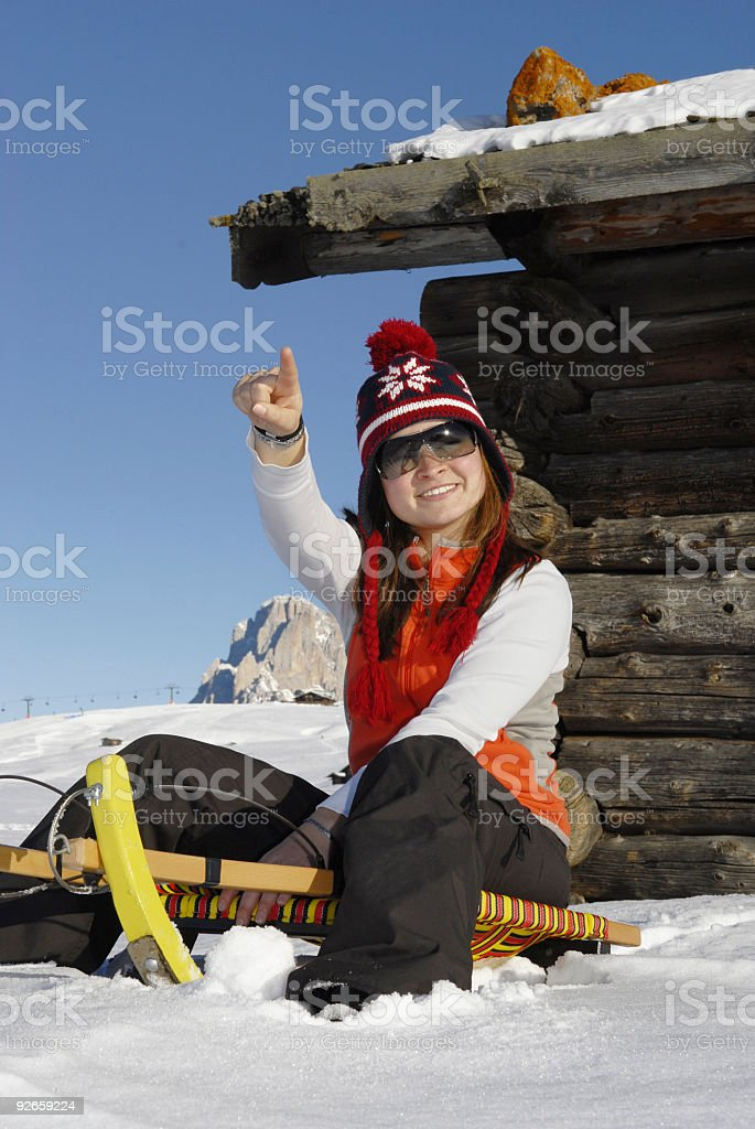 enjoy toboggan stock photo