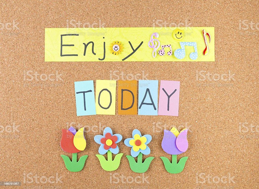 Enjoy today royalty-free stock photo