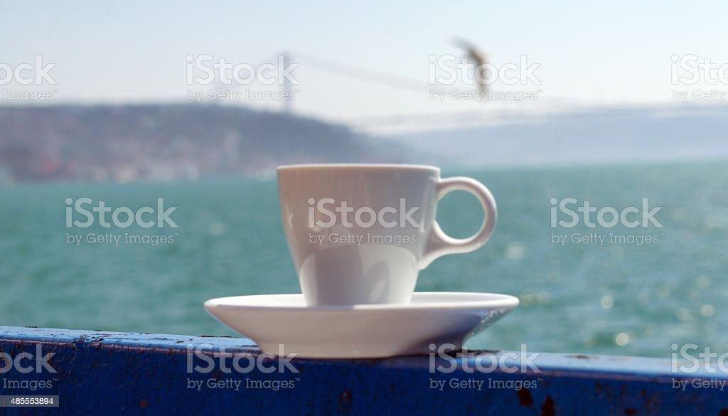 노퍽의 터키 이스탄불 보스포루스 커피를 royalty-free 스톡 사진