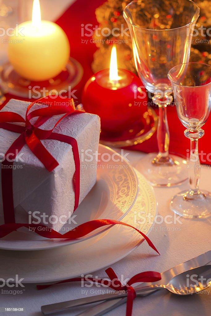 Enjoy your Christmas dinner royalty-free stock photo
