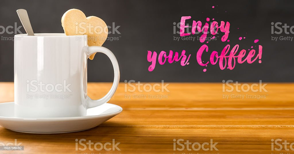 Enjoy your Coffee stock photo