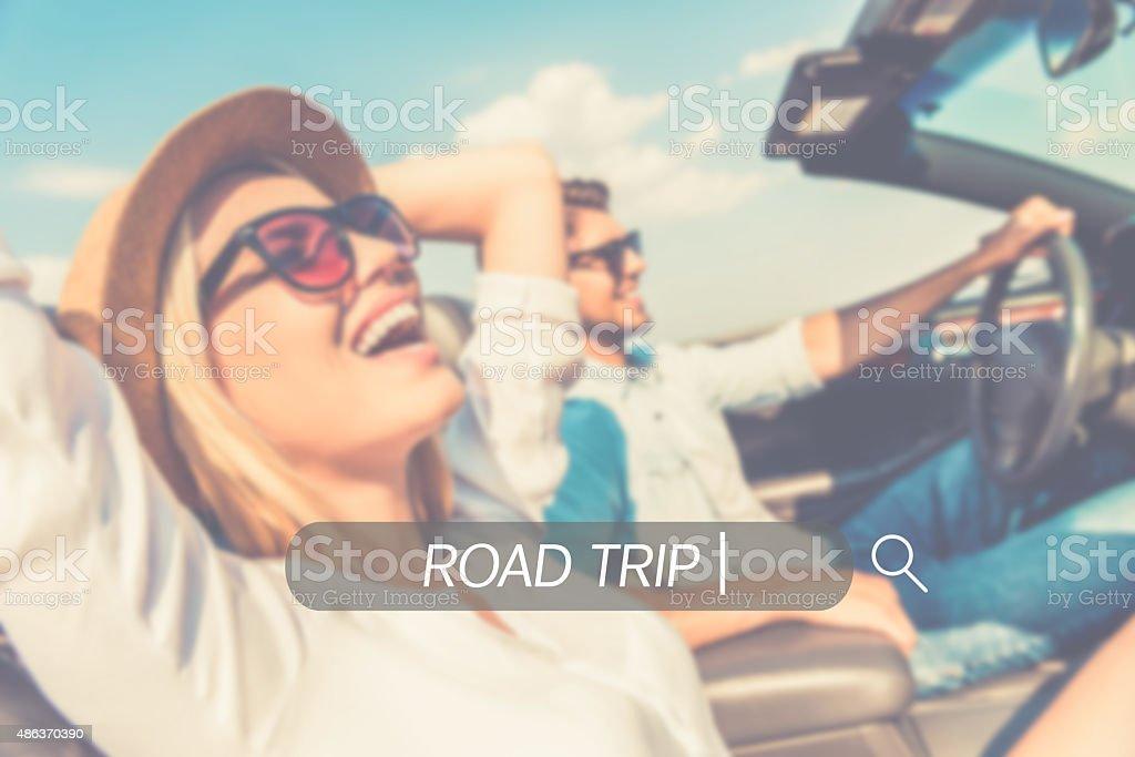 Enjoy your roadtrip. stock photo
