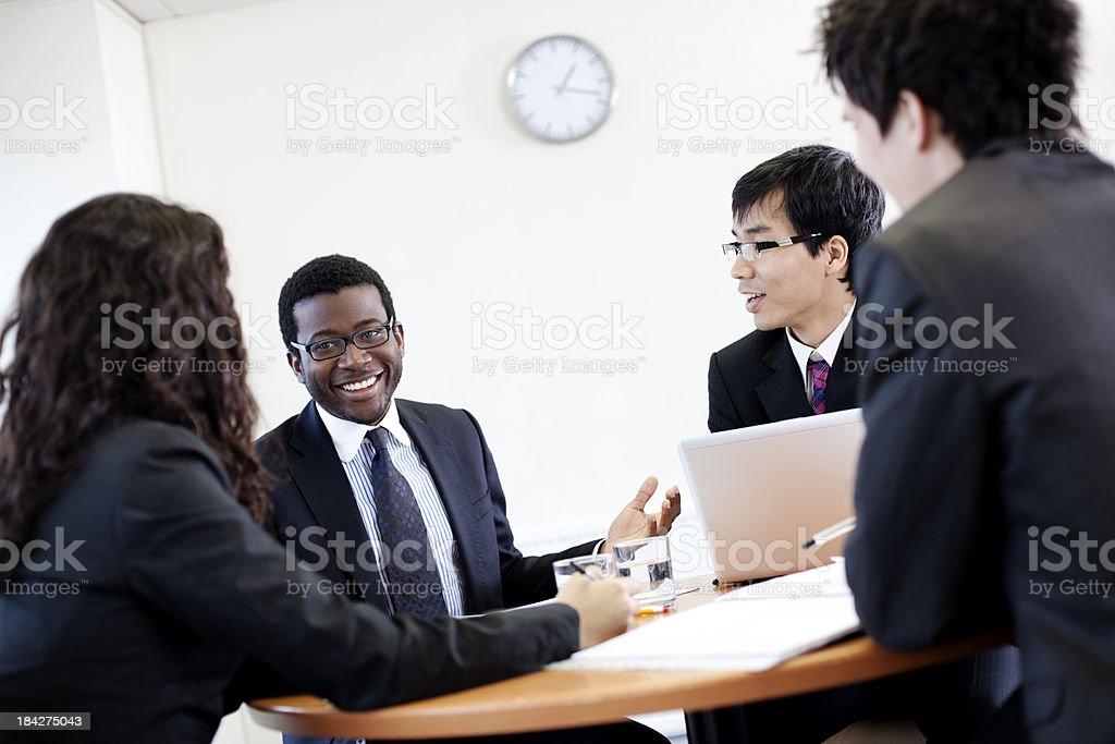 Enjoyable office meeting royalty-free stock photo