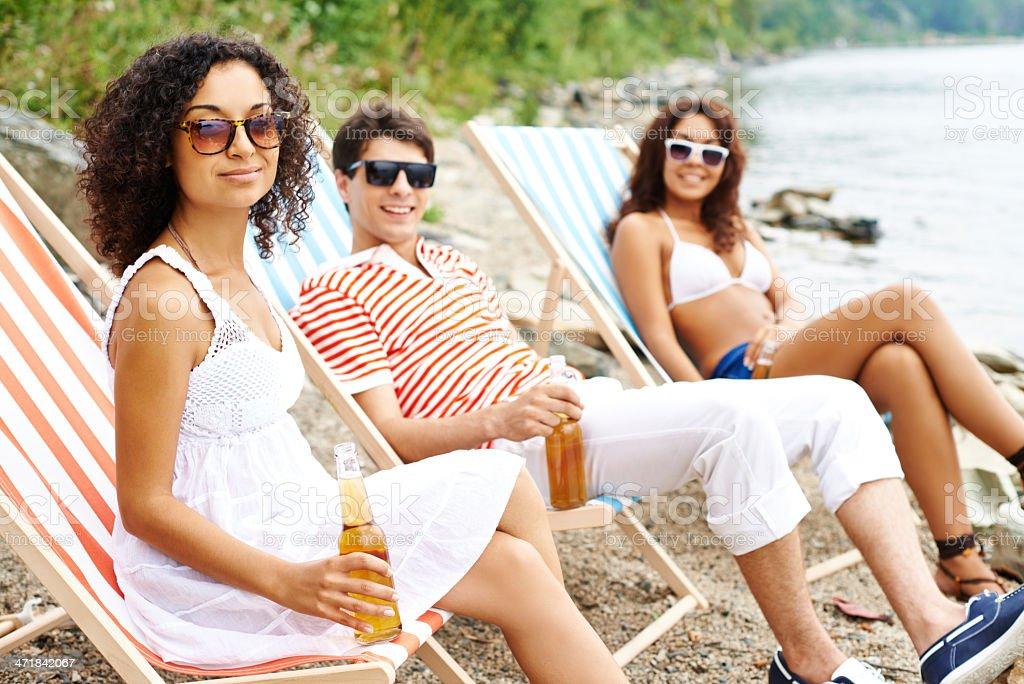 Enjoyable summertime royalty-free stock photo