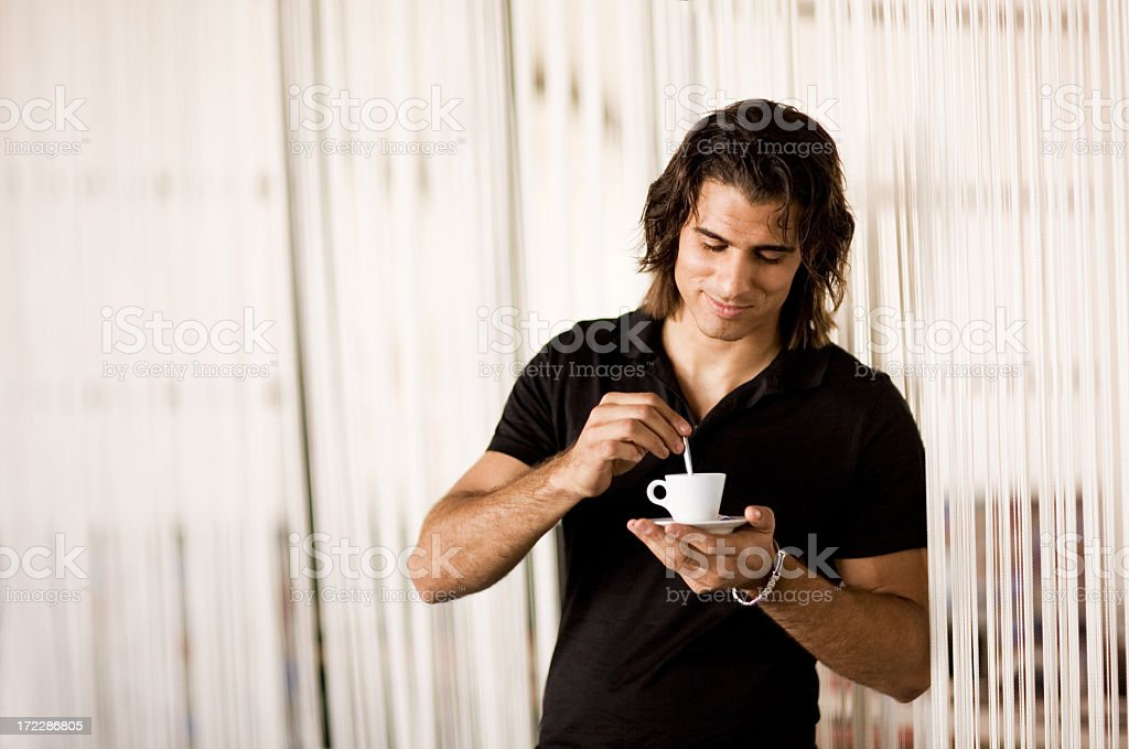 Enjoying a Coffee royalty-free stock photo