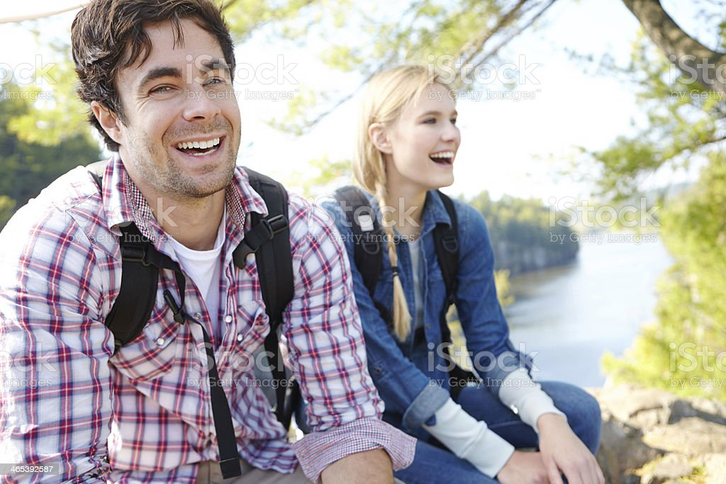 Enjoying a day in the 'great outdoors' royalty-free stock photo