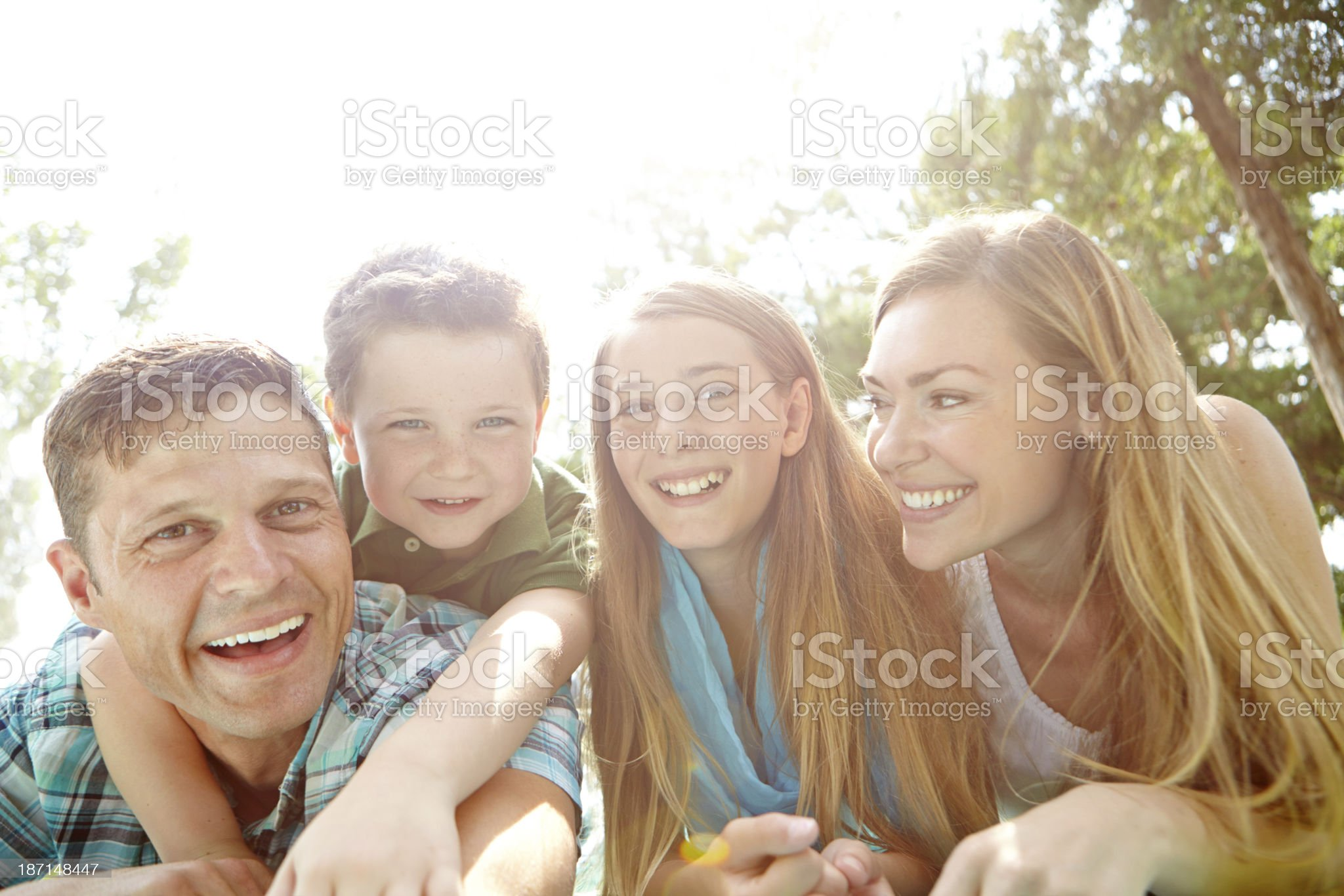 Enjoying a day in the park royalty-free stock photo