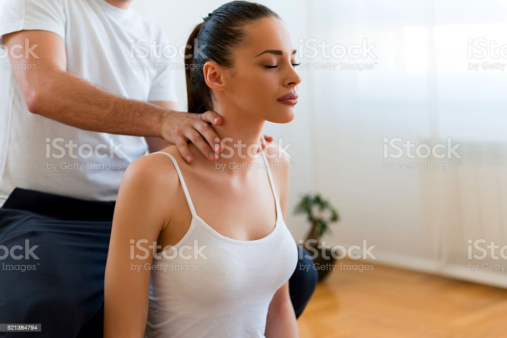 Enjoying a day of pamperinng stock photo