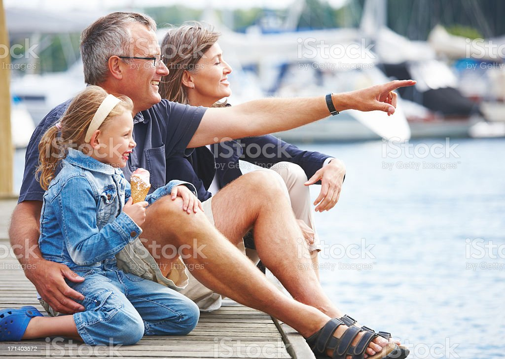 Enjoying a day out royalty-free stock photo