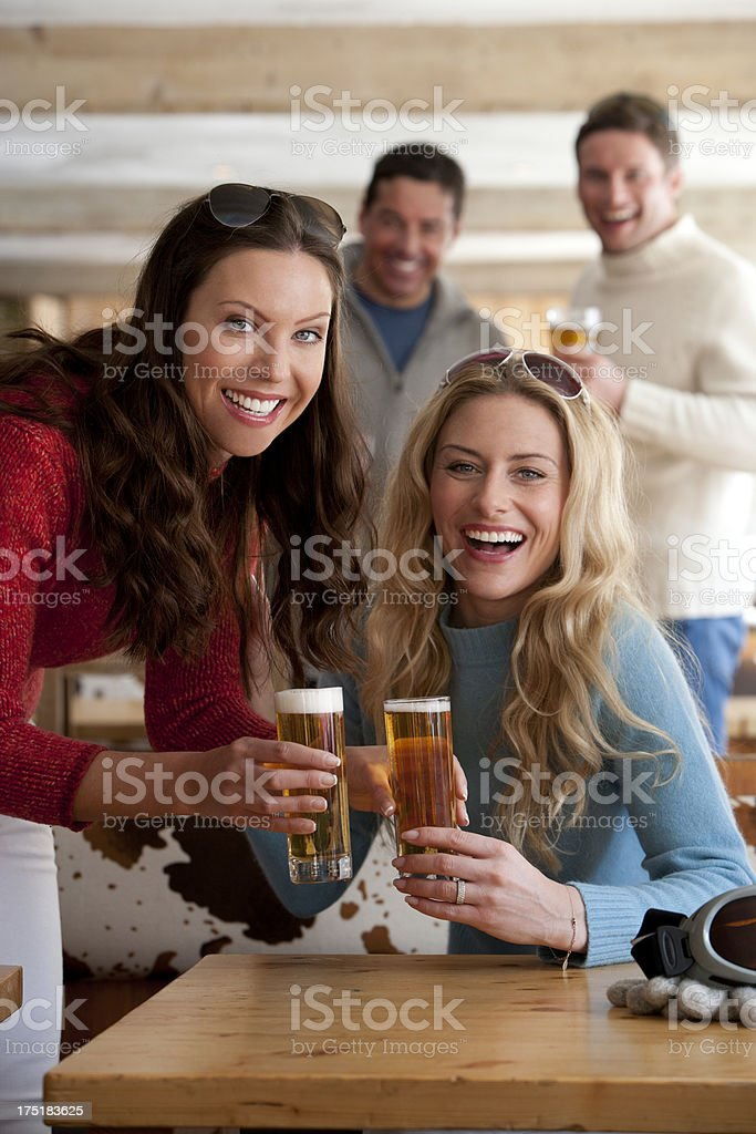Enjoying a Drink royalty-free stock photo