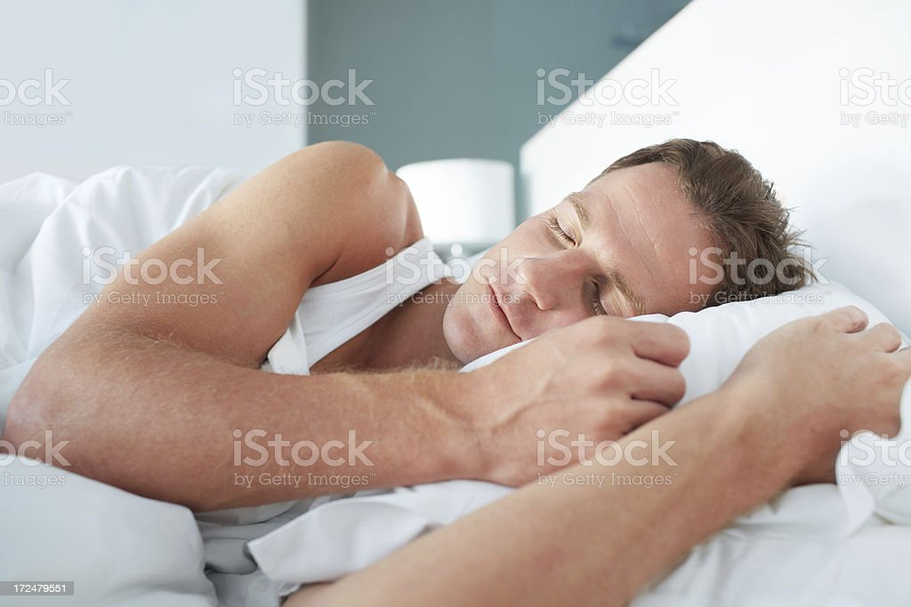 Enjoying a few more minutes of sleep royalty-free stock photo