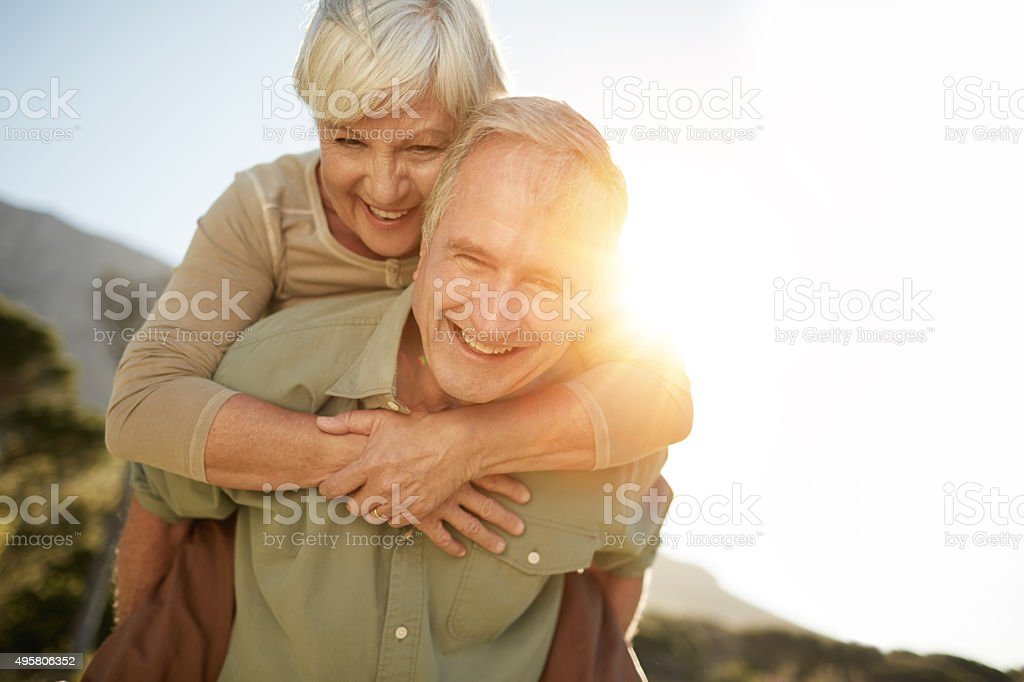 Enjoying a happy and healthy lifestyle stock photo