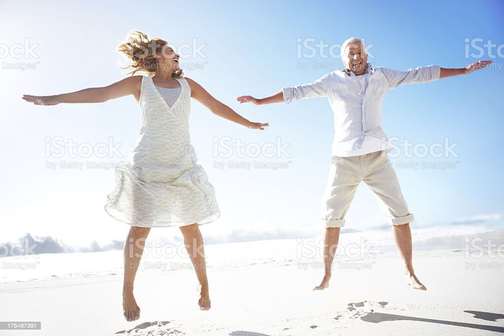 Enjoying a healthy and happy lifestyle stock photo