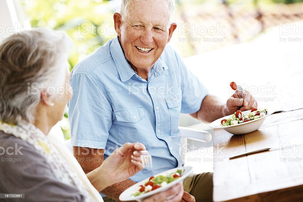 Enjoying a healthy lunch royalty-free stock photo