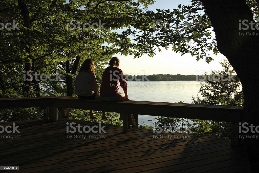 Enjoying a Late Summer Afternoon royalty-free stock photo