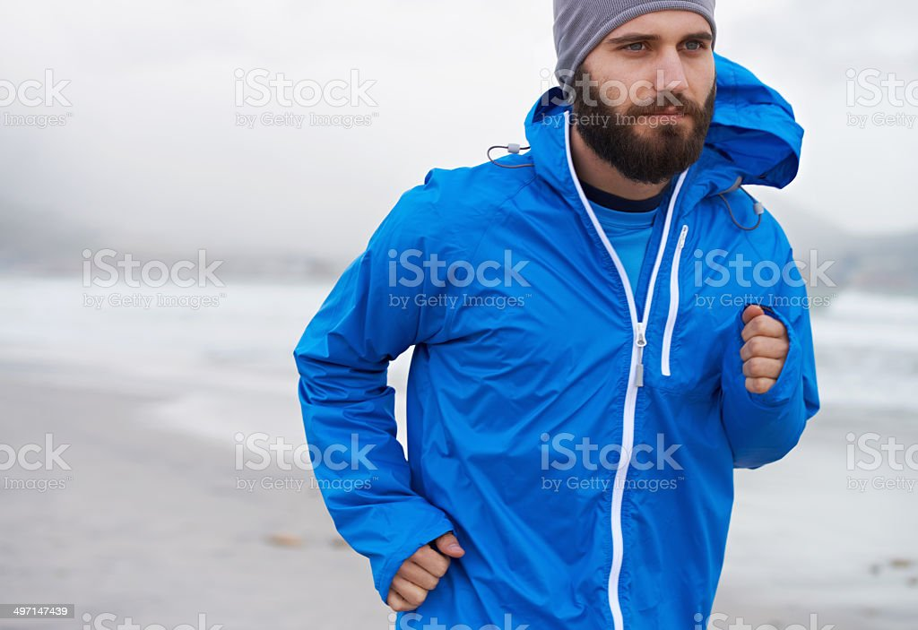 Enjoying a morning run stock photo
