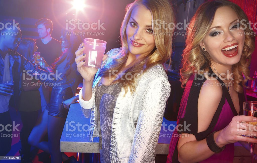 Enjoying a night out on the town royalty-free stock photo