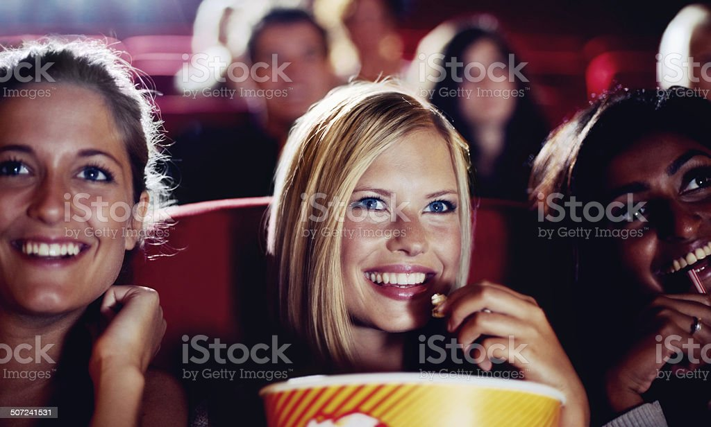 Enjoying a night out with my girls stock photo