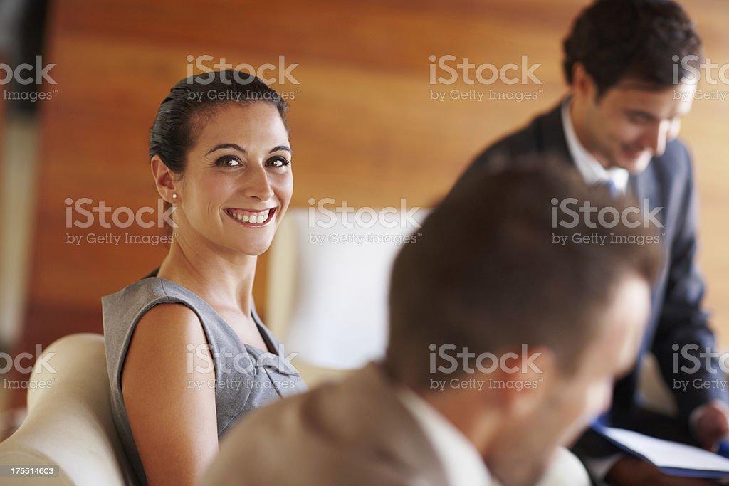 Enjoying a productive meeting royalty-free stock photo
