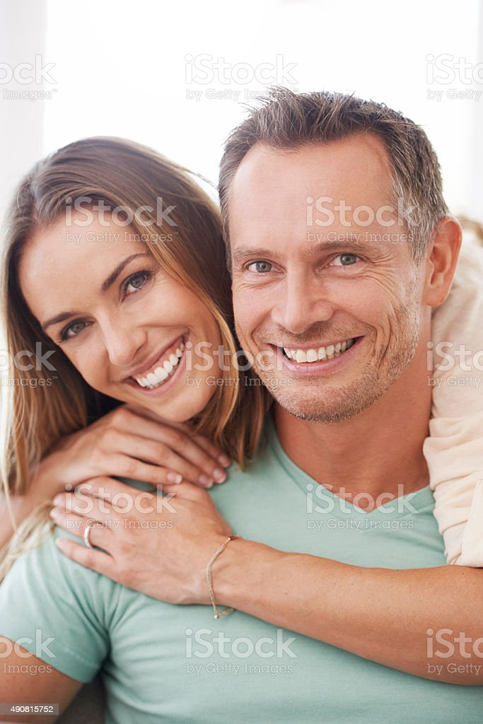 Enjoying a relaxed day together stock photo