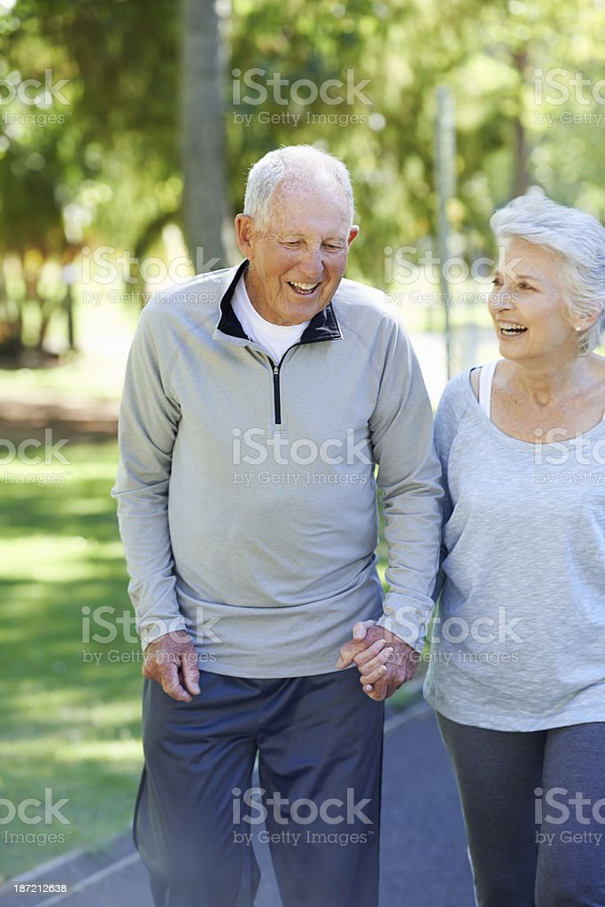 Enjoying a relaxed stroll royalty-free stock photo