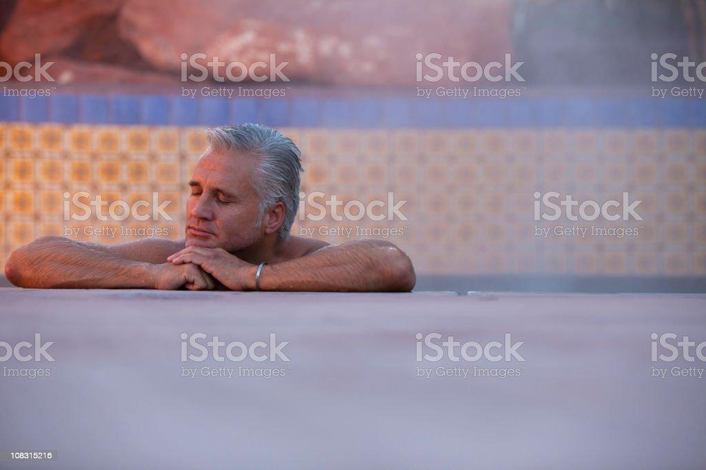 Enjoying a spa Sedona Arizona royalty-free stock photo