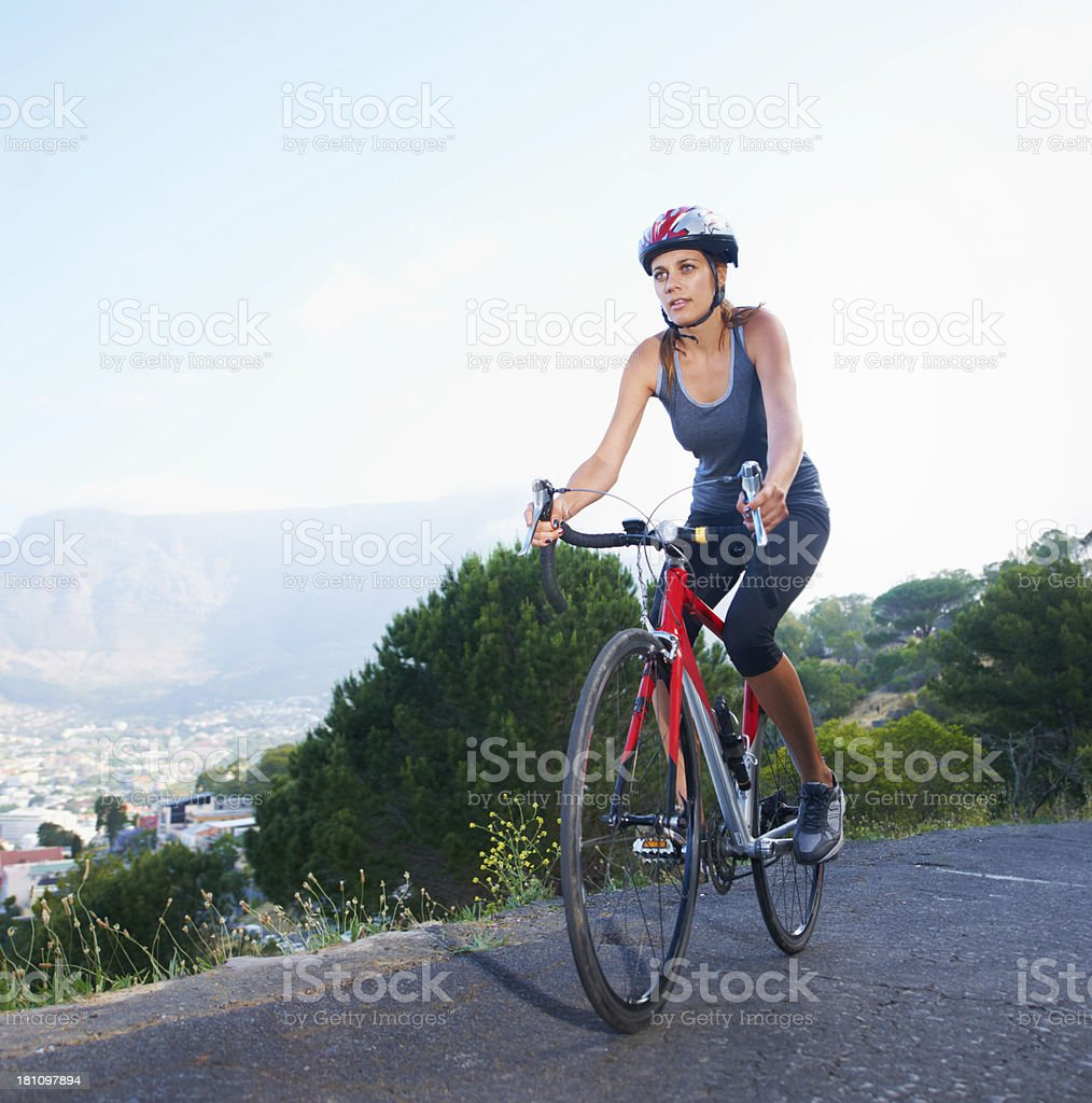 Enjoying a view from the top! royalty-free stock photo