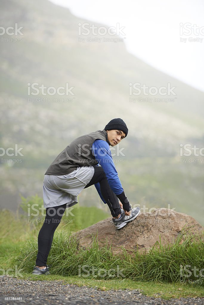 Enjoying an early morning jog stock photo