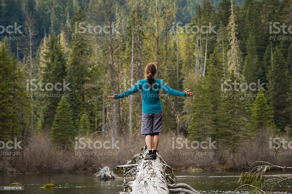 Enjoying beauty in nature stock photo