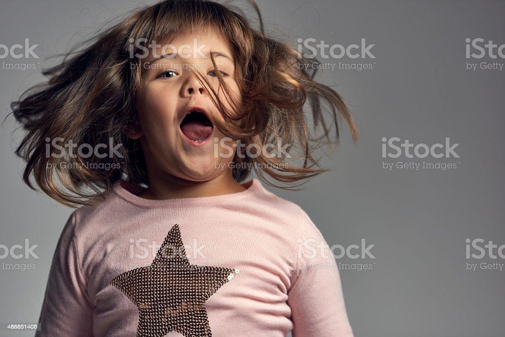 enjoying childhood stock photo