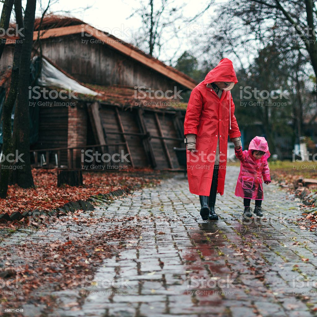 Enjoying childhood stock photo