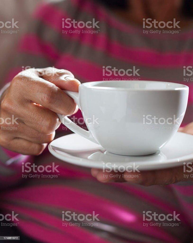 Enjoying Coffee royalty-free stock photo