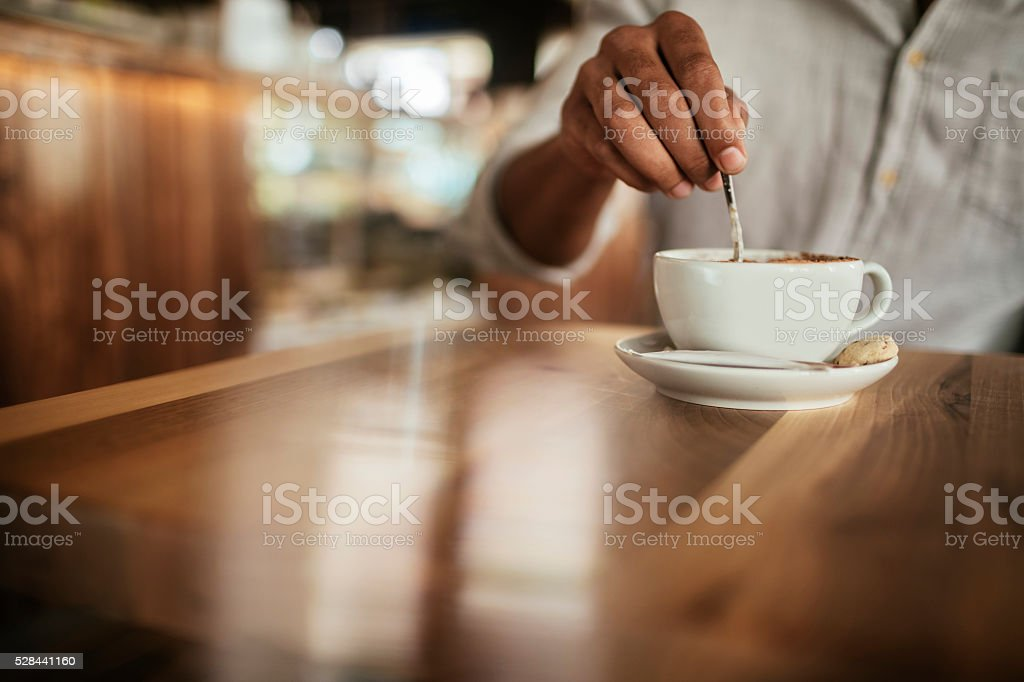 Enjoying coffee stock photo