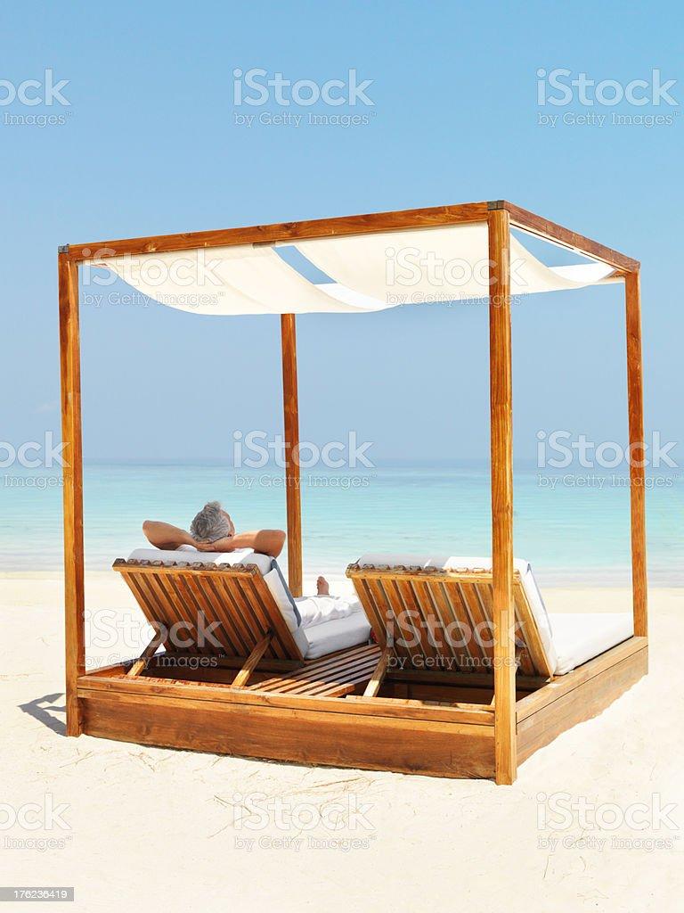 Enjoying complete holiday relaxation  stock photo