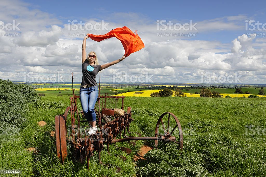 Enjoying country life in outback Australia stock photo