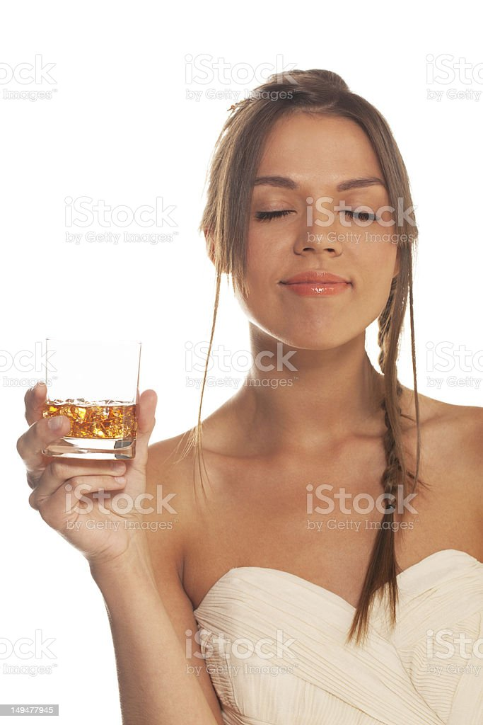 Enjoying drink stock photo